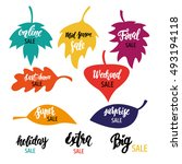 set of tags and lettering for... | Shutterstock .eps vector #493194118