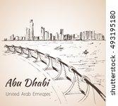 Abu Dhabi Cityscape Sketch  ...