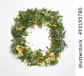 Christmas Frame Wreath With...