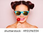 bright skin young girl with... | Shutterstock . vector #493196554