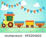illustration cartoon festive... | Shutterstock . vector #493204603