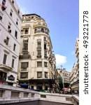 Small photo of ALGIERS, ALGERIA - SEP 25, 2016:French colonial buildings in Algiers Algeria.Buildings are being renovated by Algerian government.
