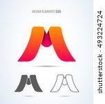 vector abstract letter m design ... | Shutterstock .eps vector #493224724