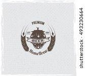 beer logo. hop icon vector... | Shutterstock .eps vector #493230664