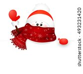 greeting card  christmas card... | Shutterstock .eps vector #493231420