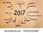 handwritten goals for 2017 | Shutterstock . vector #493232083