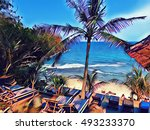 tropic resort landscape with... | Shutterstock . vector #493233370