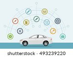 infographic template with car... | Shutterstock . vector #493239220
