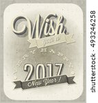 new year's eve card | Shutterstock .eps vector #493246258