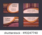 business card or visiting card... | Shutterstock .eps vector #493247740