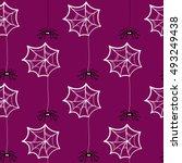 seamless pattern halloween... | Shutterstock .eps vector #493249438