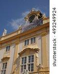 Small photo of MELK, AUSTRIA - SEP 7, 2016 - Baroque rooftop ornamentation of Benedictine abbey, Melk, Austria