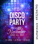 Disco Party Vector Poster...