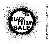 black friday sale grunge banner ... | Shutterstock .eps vector #493257130