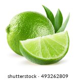 Limes Isolated On The White...