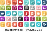 universal icons in all areas ... | Shutterstock .eps vector #493263238