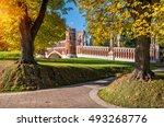bridge in tsaritsyno park in...   Shutterstock . vector #493268776