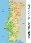 high detailed portugal physical ... | Shutterstock .eps vector #493270468