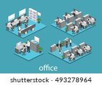flat 3d isometric abstract... | Shutterstock .eps vector #493278964
