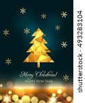 new year greeting card with... | Shutterstock .eps vector #493283104