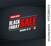 black friday sale. special... | Shutterstock .eps vector #493288414
