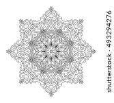 hand drawn outline mandala for...   Shutterstock . vector #493294276