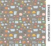 outline business seamless... | Shutterstock .eps vector #493308463