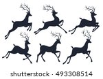 christmas reindeer silhouettes...
