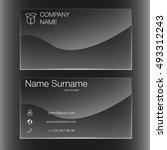 business card set template. ...   Shutterstock .eps vector #493312243