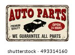 auto parts vintage rusty metal... | Shutterstock .eps vector #493314160