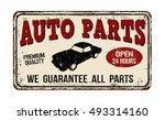 auto parts vintage rusty metal... | Shutterstock .eps vector #493314160