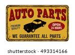 Auto Parts Vintage Rusty Metal...