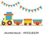 vector illustration of cartoon... | Shutterstock .eps vector #493318339