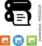 offset printer icon  | Shutterstock .eps vector #493322119