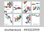 geometric background template... | Shutterstock .eps vector #493322959