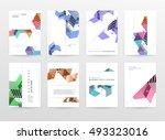 geometric background template... | Shutterstock .eps vector #493323016
