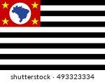 flag of sao paulo  brazil state ... | Shutterstock .eps vector #493323334
