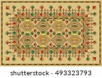 colorful mosaic kilim rug with...   Shutterstock .eps vector #493323793