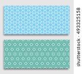 seamless horizontal borders... | Shutterstock .eps vector #493325158