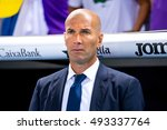 Small photo of BARCELONA - SEP 18: The coach Zinedine Zidane at the La Liga match between RCD Espanyol and Real Madrid CF at RCDE Stadium on September 18, 2016 in Barcelona, Spain.