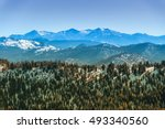 sierra nevada mountain range in ... | Shutterstock . vector #493340560