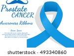 prostate cancer ribbon.... | Shutterstock .eps vector #493340860