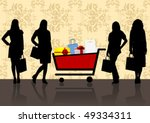 shopping illustration with... | Shutterstock .eps vector #49334311