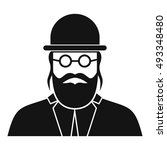 orthodox jew icon in simple... | Shutterstock .eps vector #493348480