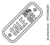 sale tag 30 percent off icon in ... | Shutterstock .eps vector #493348684