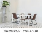 empty dining table interior... | Shutterstock . vector #493357810