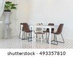 empty dining table interior... | Shutterstock . vector #493357810