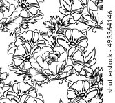 abstract elegance seamless... | Shutterstock . vector #493364146