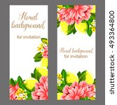 romantic invitation. wedding ... | Shutterstock . vector #493364800