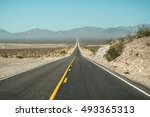 the highway goes to the... | Shutterstock . vector #493365313